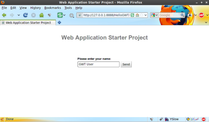 Web Application Starter Project 1
