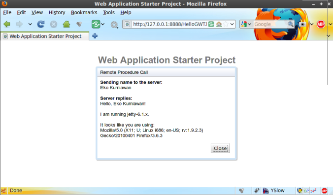 Web Application Starter Project 2