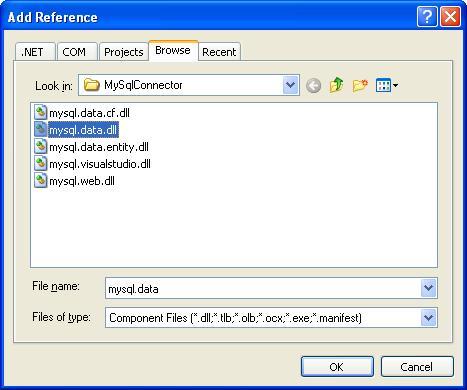 Menambahkan MySQL Connector .NET