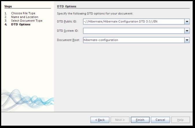 NetBeans New File - Hibernate Configuration DTD
