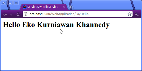 Screenshot-Servlet SayHelloServlet - Google Chrome