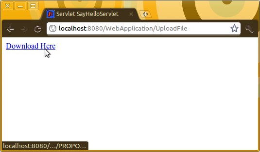 Screenshot-Servlet SayHelloServlet - Google Chrome