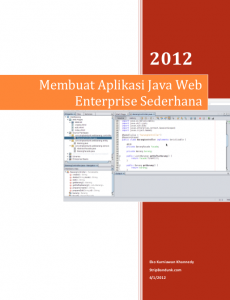 Membuat Aplikasi Java Web Enterprise