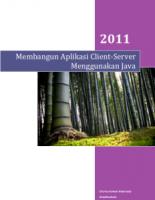 Membangun Aplikasi Client-Server Menggunakan Java