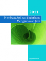 Membuat Aplikasi Sederhana Menggunakan Java