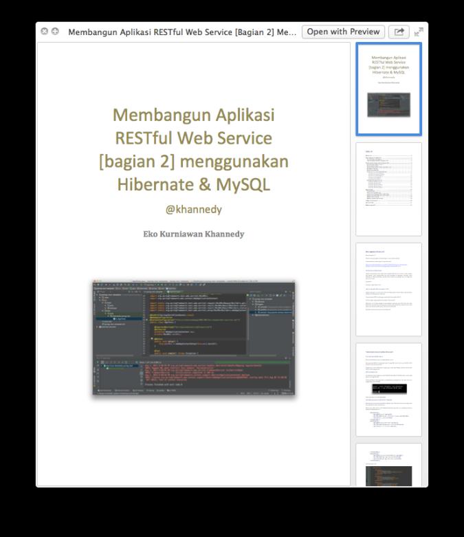 Membangun Aplikasi RESTful Web Service [bagian 2] Menggunakan Hibernate dan MySQL