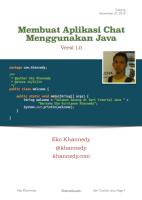 Buku Membuat Aplikasi Chat Menggunakan Java